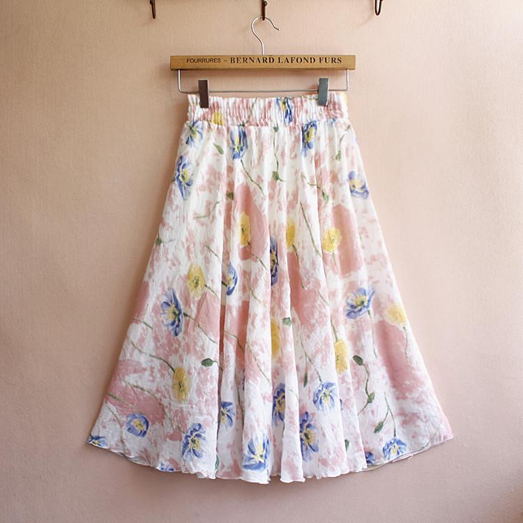 印花民族风短裙
