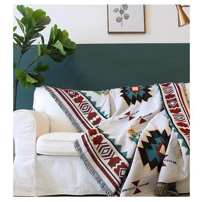 沙发盖布简约沙发防尘布全包沙发布北欧沙发罩民族几何沙发巾全盖