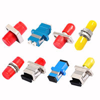 Fine connection Fiber Flange Optical Brazing Coupler Adapter SC/FC/LC/ST Optional Telecom Quality 10