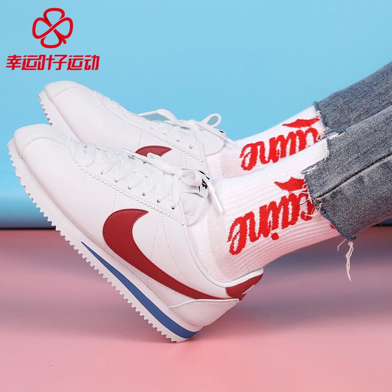 Nike耐克女鞋2019春季新款阿甘运动鞋皮质休闲鞋板鞋807471-103