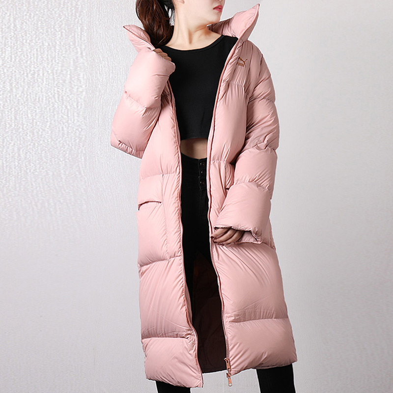 PUMA彪马女装2018冬季新款运动服外套保暖连帽休闲长款加厚羽绒服