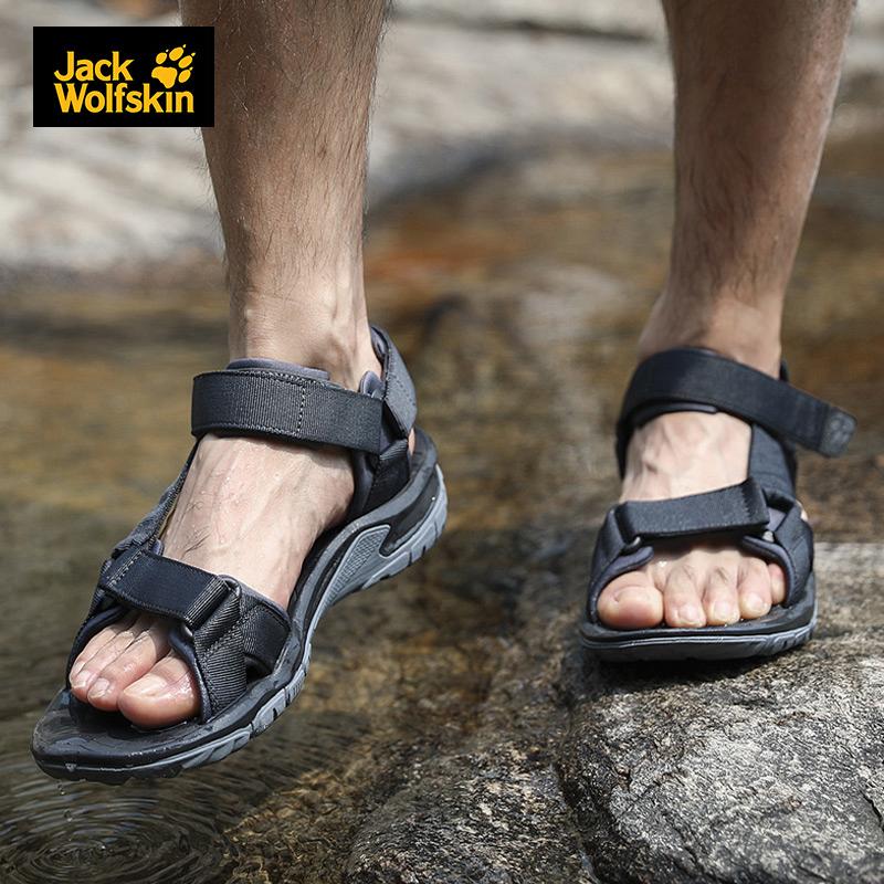 狼爪凉鞋女鞋2019夏季新款户外休闲鞋防滑耐磨沙滩鞋男士旅行凉拖