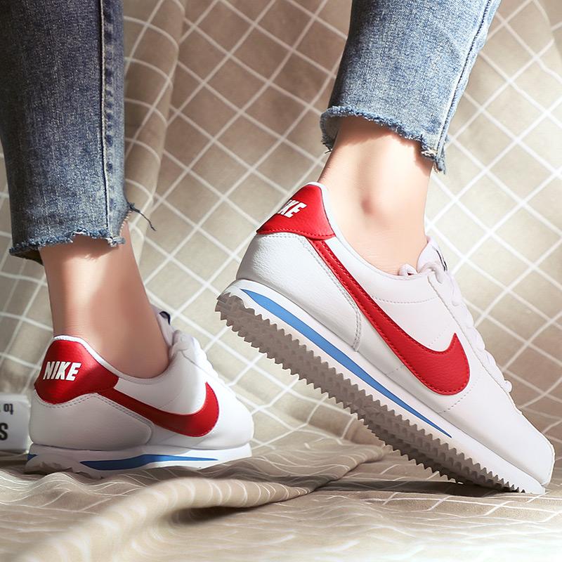 Nike耐克女鞋2019冬季新款花卉阿甘鞋轻便运动鞋复古休闲鞋跑步鞋
