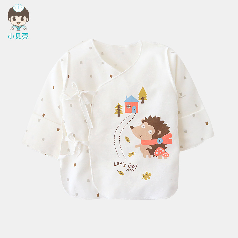 新生儿半背衣纯棉和尚服初生婴儿上衣单件秋衣宝宝衣服春秋季睡衣