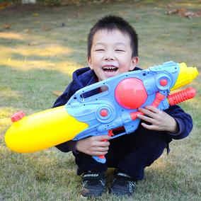 儿童水枪玩具背包水枪戏水玩具大号儿童抽拉式高压充气水枪射程远