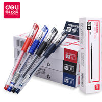Effective gel pen 0.5mm signature pen carbon pen 12 student stationery black pen blue black pen office signature pen water pen red pen test pen black pen wholesale pen