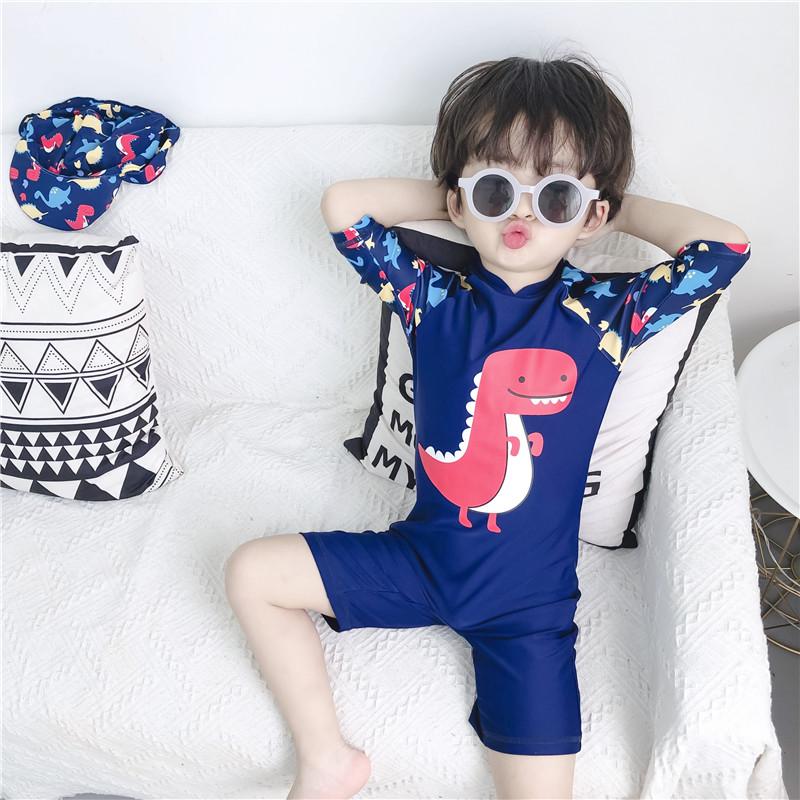 2019新款儿童泳衣韩版男童宝宝连体游泳衣防晒温泉沙滩度假游泳装