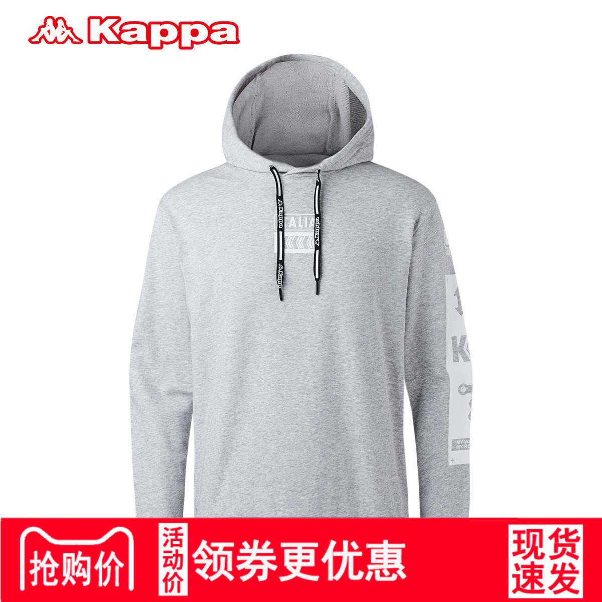 Kappa卡帕男装运动卫衣 套头帽衫运动服上衣男2018外套K0815MT30D