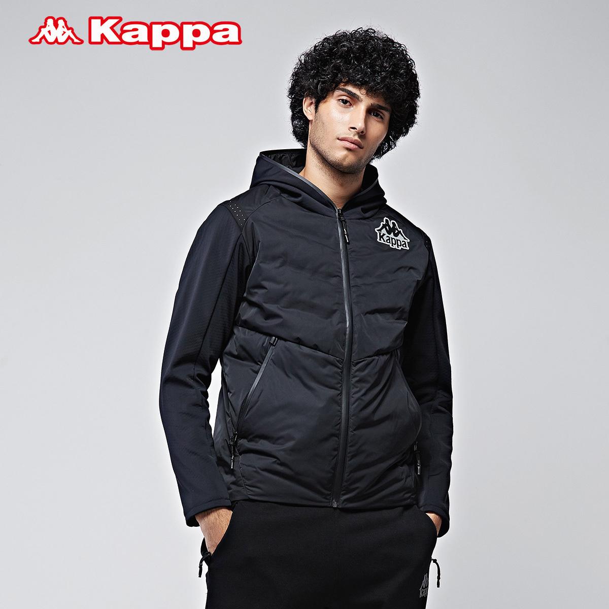 Kappa男款羽绒服 卡帕运动保暖 加厚连帽外套男冬季新款K0752YY32