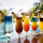 创意玻璃飓风杯高脚果汁杯大容量水杯啤酒杯奶茶奶昔杯甜品冰沙杯