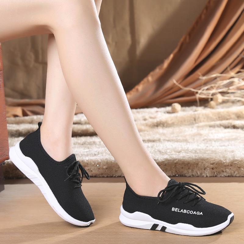 老北京布鞋女鞋系带透气单鞋运动跑步中老年广场舞防滑软底妈妈鞋