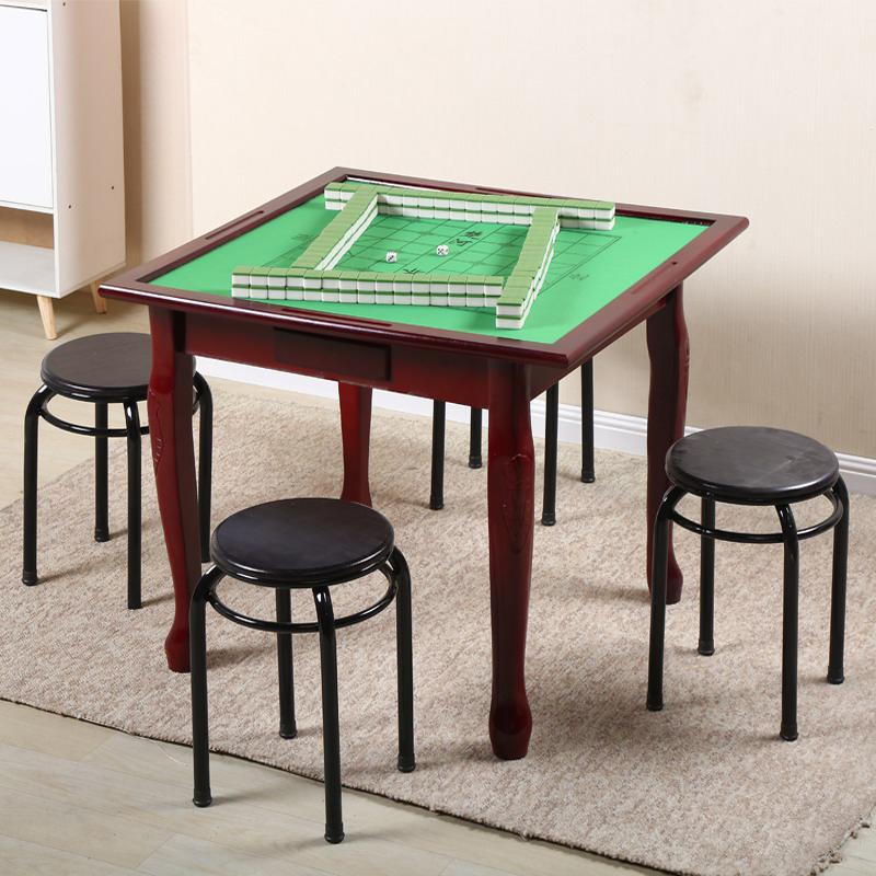包邮简易实木麻将桌子餐桌两用家用手搓麻将桌面板棋牌方桌象棋面