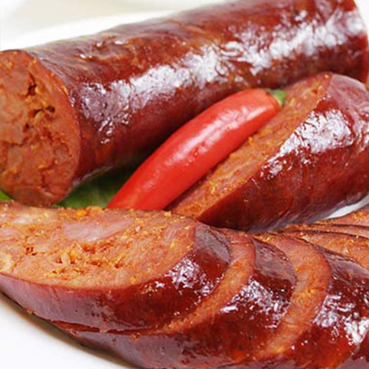 重庆特产小吃年货川味香肠玉炳香肠500g腌腊制品 烟熏 一件包邮
