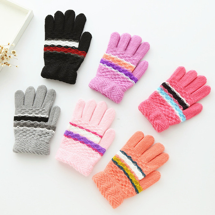 儿童手套保暖冬季男童分指