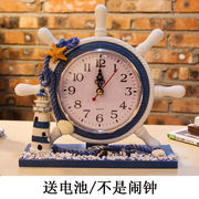 Mediterranean style clock clock pendulum clock living room bedroom clock bedside clock mute children room study room decoration