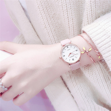 INS Korean Simple Watch Female Xiao Qingxin Literature and Art Female Student Atmospheric Quality Restoration Trend Former College Style