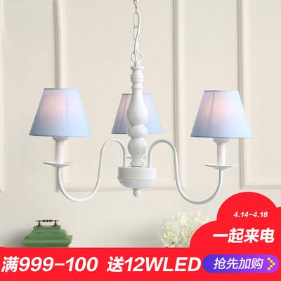 餐厅吊灯卧室铁艺三头灯具在哪买