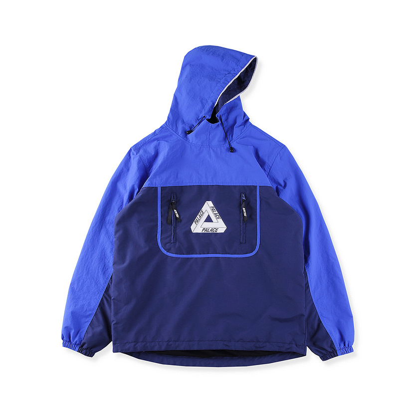 e8f5485766d4 PALACE 17SS OVER PARK SHELL TOP NAVY 蓝精灵冲锋衣风衣外套