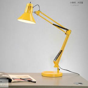 充电调光LED护眼台灯宜家折叠夹子学习美式创意长臂卧室床头书桌