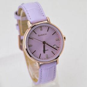 行货CASIO卡西欧手表SHE-4048PGL-6A 7A 9A 防水时尚简洁商务女表