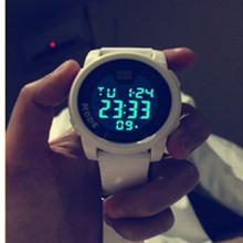 女生电子表韩版学生防水高中 ulzzang简约男士潮男运动大表盘手表