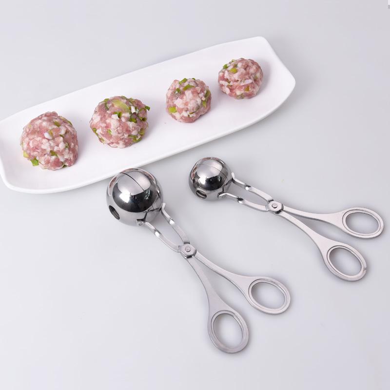 304不锈钢肉丸夹 手打牛肉丸子制作器模具 DIY鱼丸虾球氽丸小工具