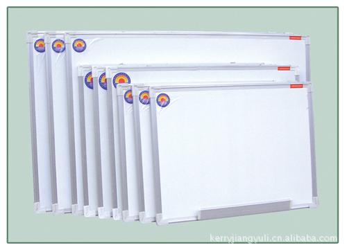 特价白板黑板教学铁质加厚挂式磁性绿板单面1.2 2.4米 可定做尺寸