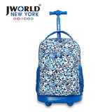 JWORLD Jiehuade Europe and the United States trolley bag primary school children 1-3-5 grade shoulder waterproof travel backpack