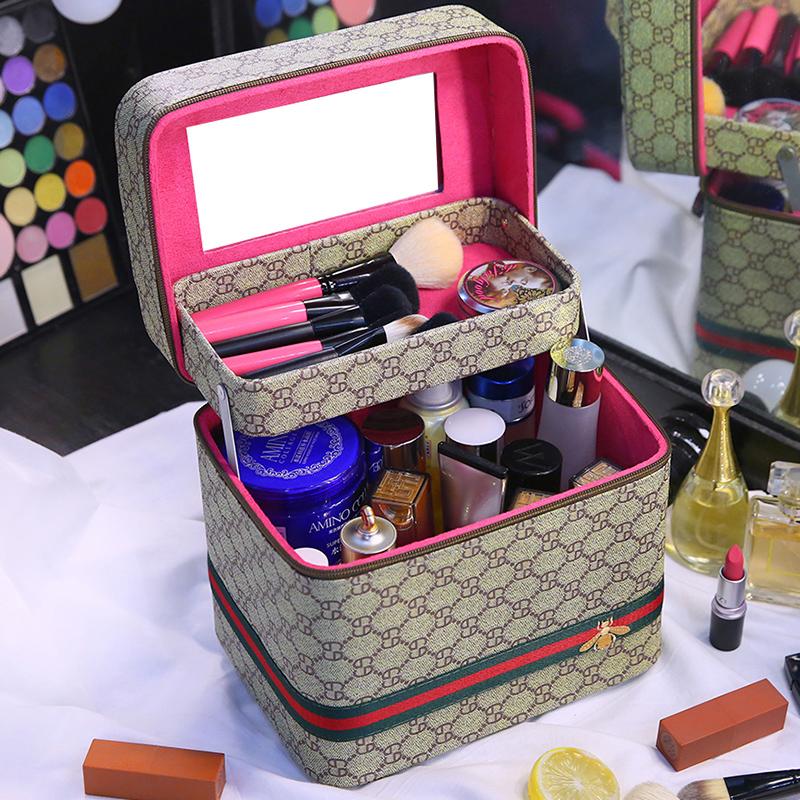 多功能化妆包大容量女便携韩国化妆品收纳盒层小号网红简约箱手提