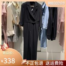 末歌莉娅言女装 时髦气质显瘦黑色连体裤 2019秋装 新款 女198C1E060