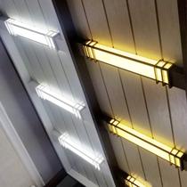 灯金色明装个姓拉丝边框浴霸加厚白色led集成吊顶30x30转接吸顶灯