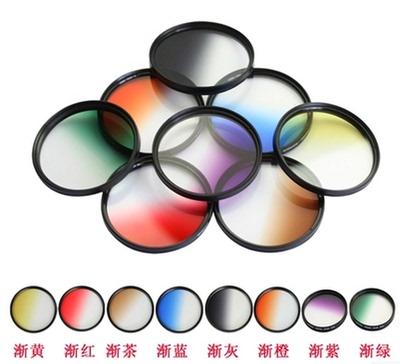 超薄滤镜渐变镜GND82/77/67/58/52/49/40.5/43/37mm圆形减光UV