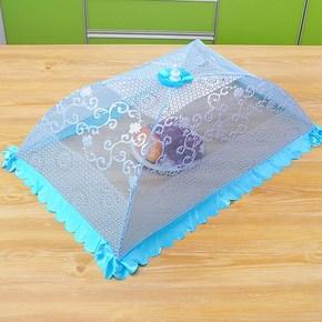 盖菜罩长方形餐桌饭菜防苍蝇饭桌上的食物罩子家用厨房网大号塑料