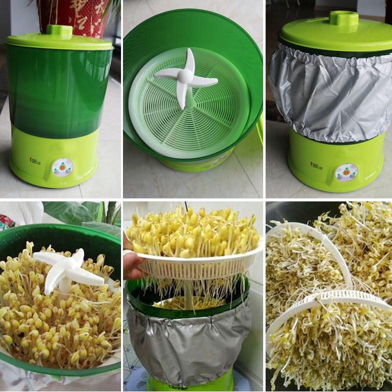 豆芽机家用全自动包邮包邮大容量发豆芽机生绿豆芽盆芽罐家用包邮