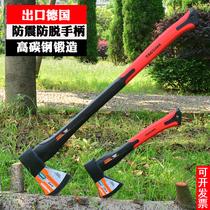 户外多功能精钢开山斧大斧头大号超重加长劈柴砍树伐木斧正品斧头