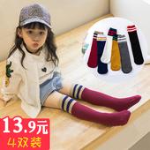 宝宝过膝长袜子儿童男童夏季堆堆袜长筒袜 女童中筒袜春秋纯棉薄款图片