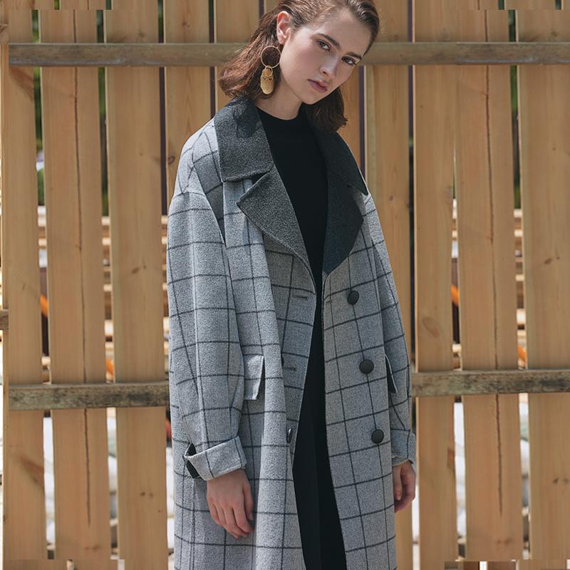 羊绒双色大衣
