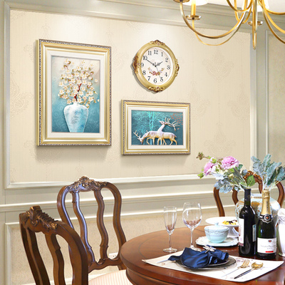 餐厅装饰画欧式现代简约歺厅挂画饭厅墙壁装饰餐厅墙面装饰壁画