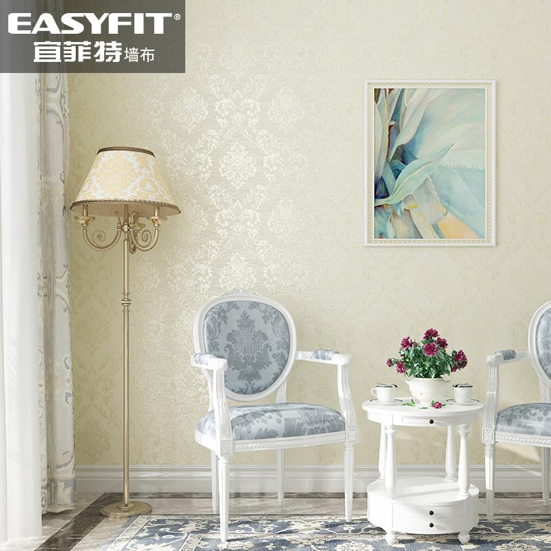 纯色蚕丝素色无缝墙布欧式壁布卧室壁纸美式简约现代客厅背景墙纸