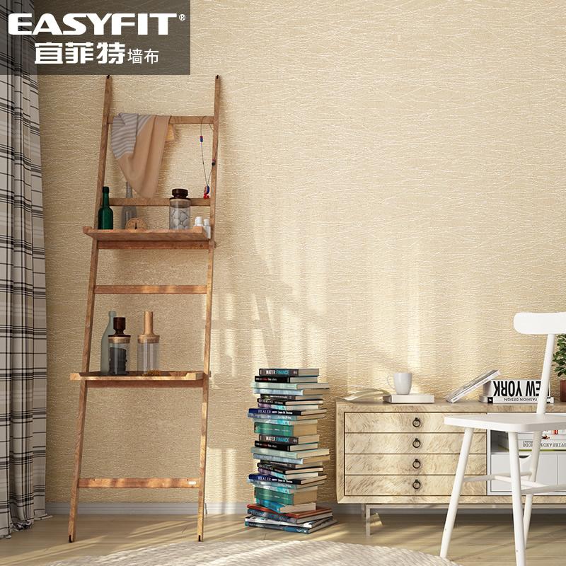 无缝壁布蚕丝墙布欧式房间纯色条纹卧室壁纸客厅简约现代素色墙纸