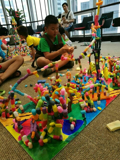 1万偶豆魔法diy玉米粒玩具带积木儿童制作手工橡皮泥粘土散大量批