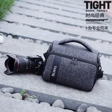 單肩斜挎單反相機包小男女尼康便攜微單背包70d攝影包 佳能相機包