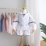 2019 new summer children's sun protection clothing for boys and girls sun protection clothing light and breathable two-piece suit leisure sports