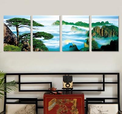 客厅 挂画 装饰画山水四联画哪个好