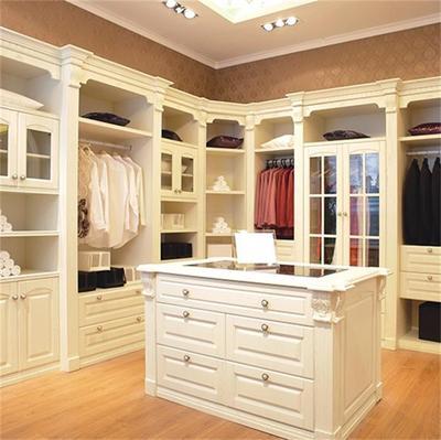 全实木定制家具欧式美式中式雕花定制衣柜衣帽间小美书柜博古架