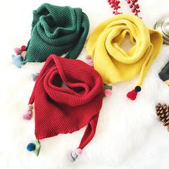 三角毛线围巾
