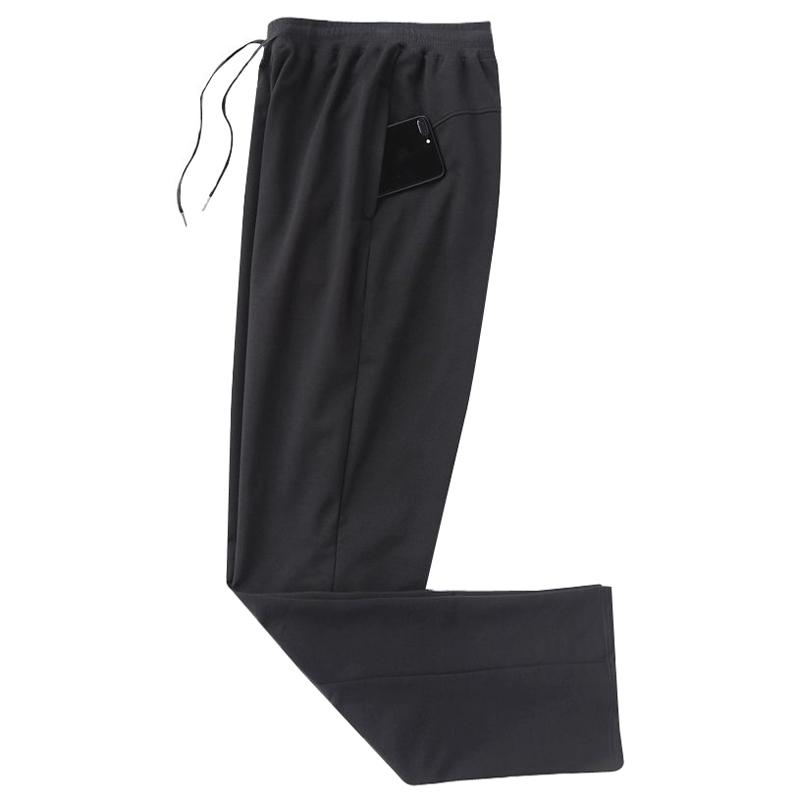 黑色运动裤男夏季薄款宽松直筒男士松紧腰休闲裤胖子裤子百搭潮流