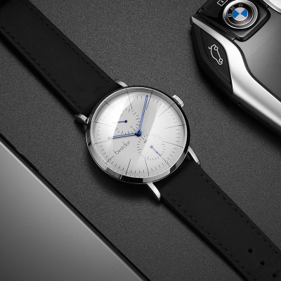 邦頓手表正品防水個性大表盤夜光男表時尚款2018新款石英表真皮帶好不好