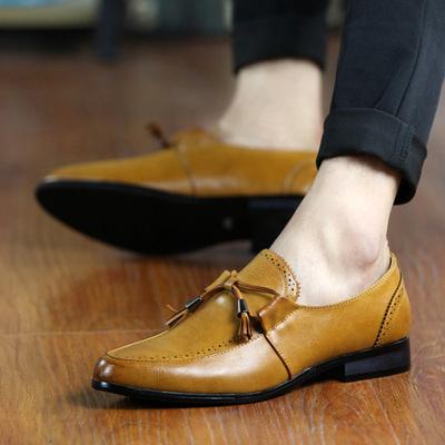 2018夏季男士商务皮鞋英伦新款发型师时尚单鞋秋季休闲韩版鞋子潮