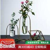 陶瓷工艺品桌面小花瓶办公桌饰摆件手工迷你粗陶花器